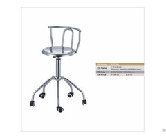 Stainless Steel Stool With Backrest