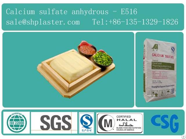 Food Grade Calcium Sulfate Dihydrate Superfine For Tofu