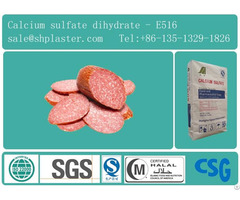 Food Grade Calcium Sulfate Dihydrate E516 For Meat Product