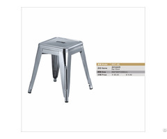 Food Court Chair Metal Stool Stacking