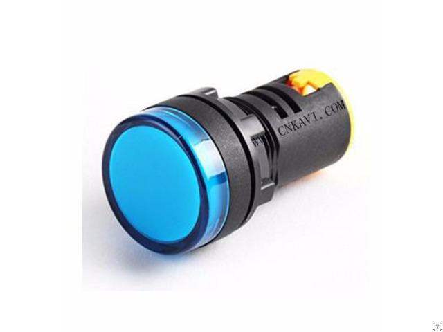 Signal Light Led Pilot Lamp Indicator Ad26b-22d Blue