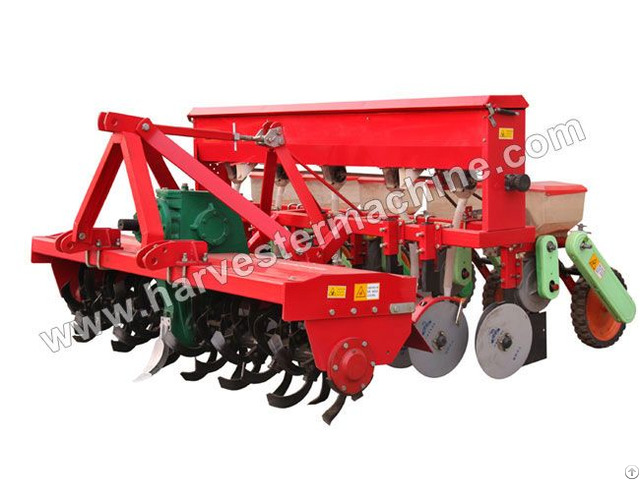 Rotary Tilling And Fertilizing Corn Seeder