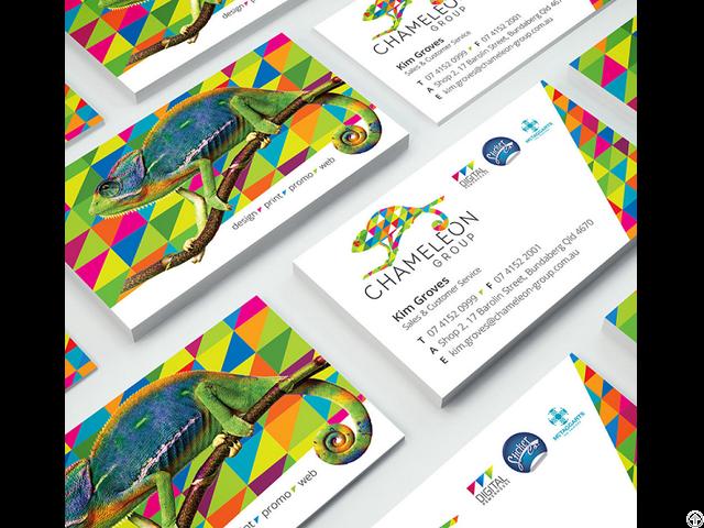 Business Cards Full Colour And Matt Cello Glaze Chameleon Print Group
