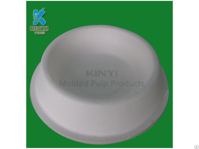 Disposable Fiber Paper Pulp Pets Bowls Customized