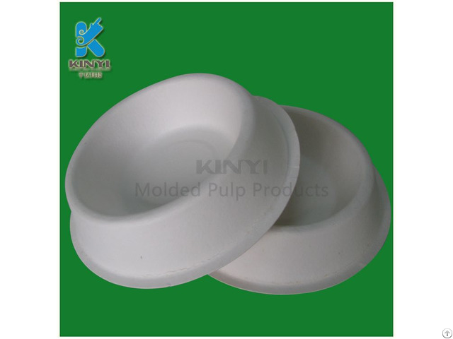 Eco Friendly Recycled Pulp Paper Cats Bowls Customized With Logo