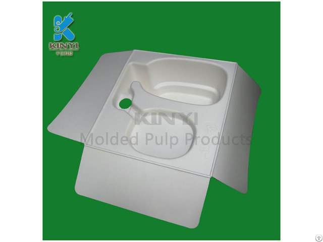 Biodegradable Waste Pulp Molded Fiber Packaging Custom