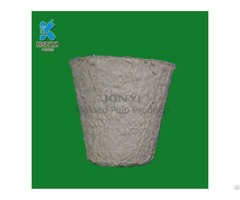 Disposable Recycled Fiber Pulp Biodegradable Flower Planters