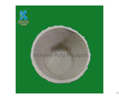 Recycled Pulp Biodegradable Garden Flower Planters Customized