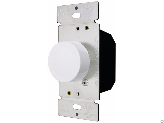 Rotary Fan Speed Control Single Pole Fully Variable White