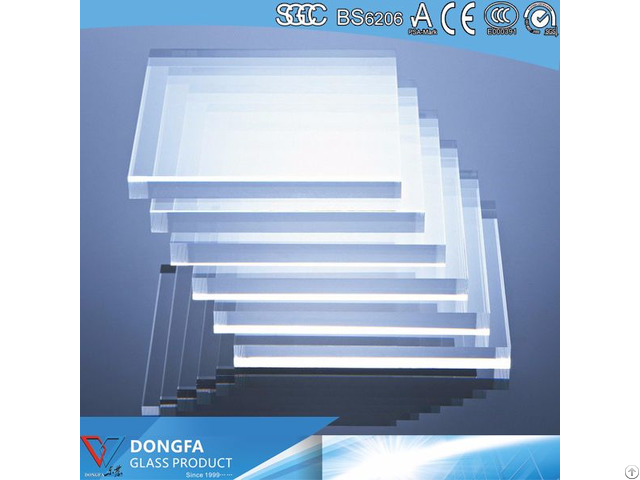Clear Safety Tempered Glass For Building