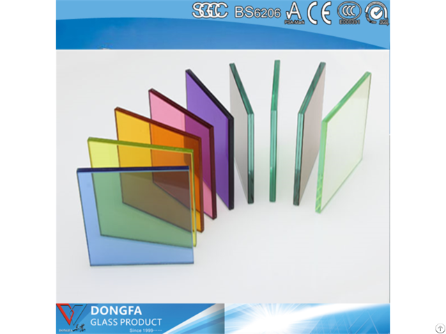 Clear Or Colored Laminated Glass