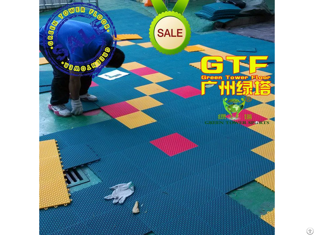Kindergarten Playground Colorful Interlocking Flooring