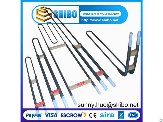 U Shape 1800grade Mosi2 Heating Elements For Furnace And Ovens