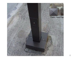 Square Lighting Pole For Led Lights