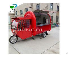 Movable Tricycle Bicycle Electric Food Cart