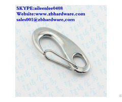 Stainless Steel Safety Hook With Latch Industrial Snap Hooks