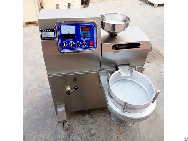 Small Capacity Sesame Peanut Oil Pressing Machine For Shop Use
