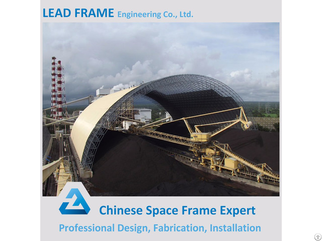 Large Span Steel Space Frame Structure Coal Storage For Power Plant