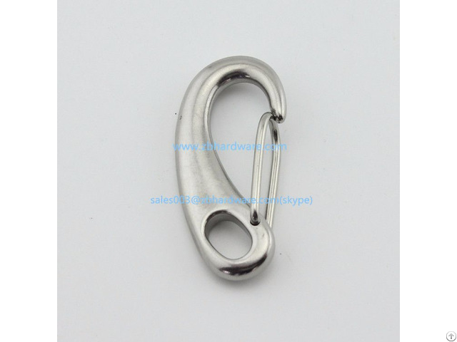 Grade 304 316 Stainless Steel Egg Shaped Mini Snap Hook 50mm 70mm 100mm