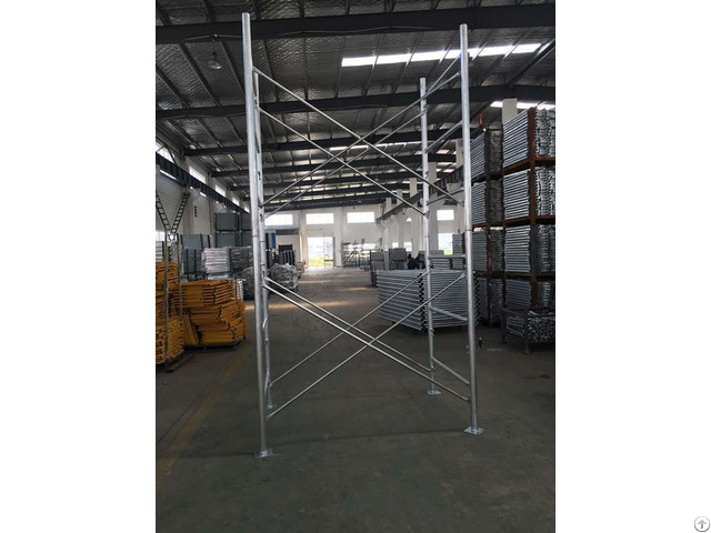 Painting And Powder Coated Scaffolding Frame With High Quality