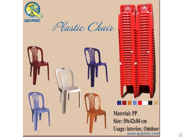 Plastic Chairs Backrest Qui Phuc Vietnam