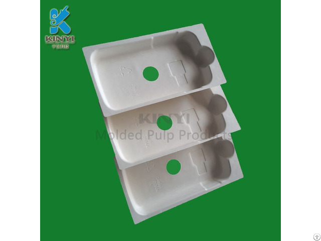 Newest Odm Customized Paper Pulp Molded Phone Case Packaging Tray Container