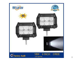 5d Led Light Bar 4inch 18w Cree With Flood Spot Beam