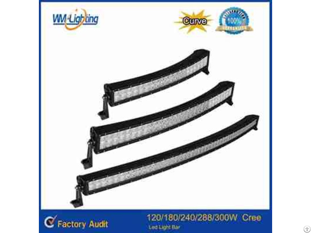 High Quality 120w 180w 240w 288w Curved Led Light Bar