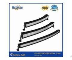 High Quality 120w 180w 240w 288w Curved Led Light Bar