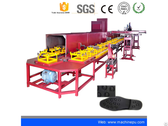 Automatic Polyurethane Pu Pouring Shoe Sole Making Machine