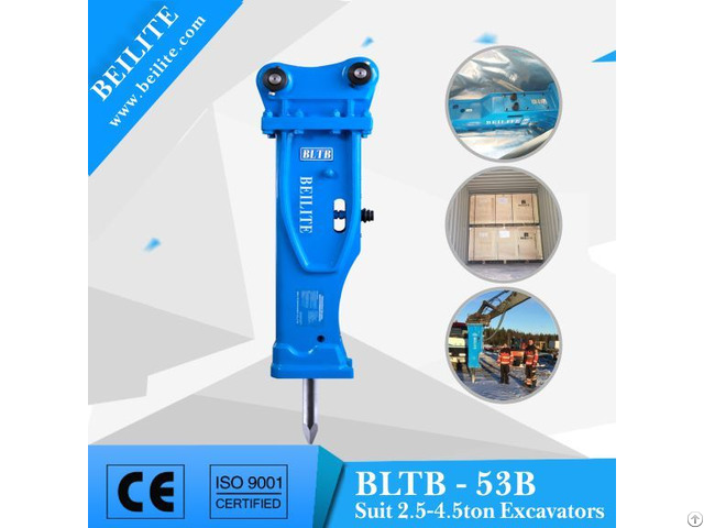 Bltb53b Silenced Hydraulic Hammer For Mini Excavator
