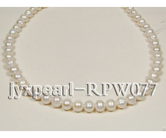 Wholesale 9 11mm Classic White Round Freshwater Pearl String