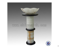 Pure White Onyx Freestanding Tape Bathroom Sinks