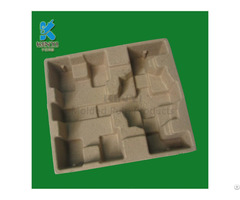 Recycled Paper Pulp Molded Electronic Tray Tempered Protective Packaging