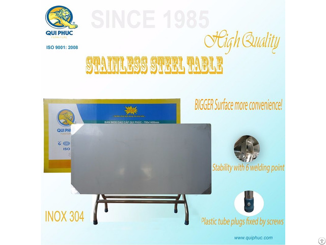 Stainless Steel Folding Table Vietnam