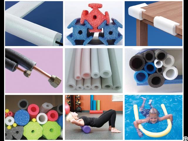 Epe Foam Pipe Rod Profile Production Line