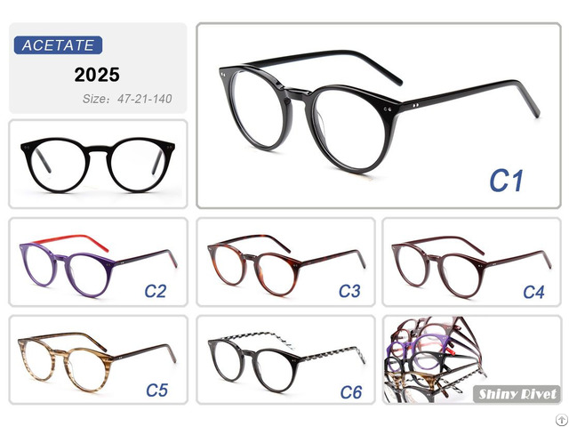 Latest Trends Cat Eye Shape Italy Designer Eyewear Frames