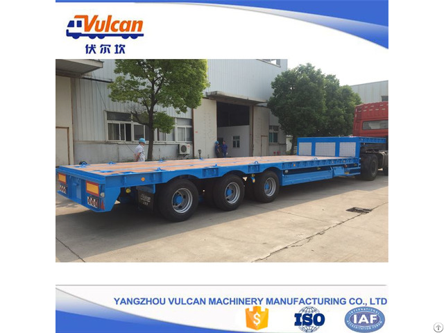 Tri Axle Air Bag Suspension Lowbed Semi Trailer