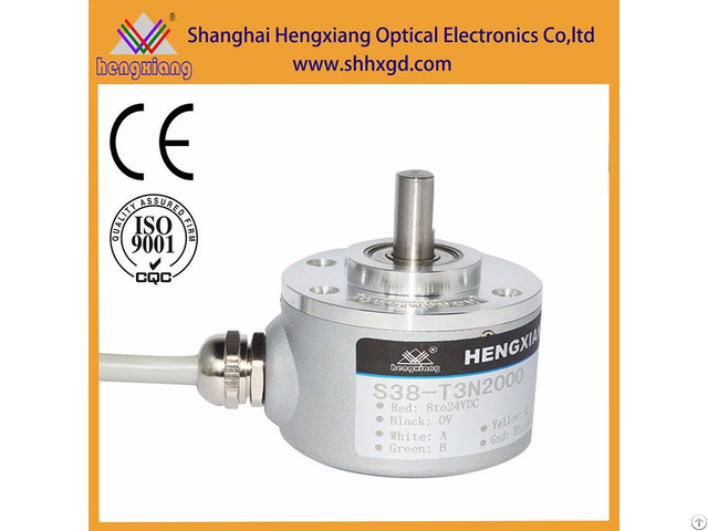 Hengxiang S38 Solid Encoder With Diameter 38mm Shaft 6mm 2048ppr
