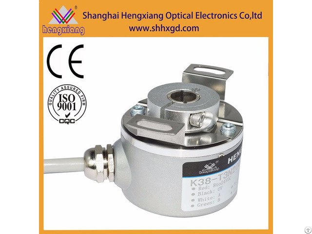 Hengxiang K38 Hollow Encoder With Diameter 50mm Shaft 8mm Npn Output Abz