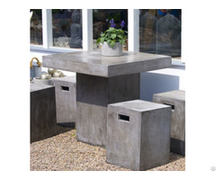 Urban Concrete Coffee Table With Stools Outdoor Furniture