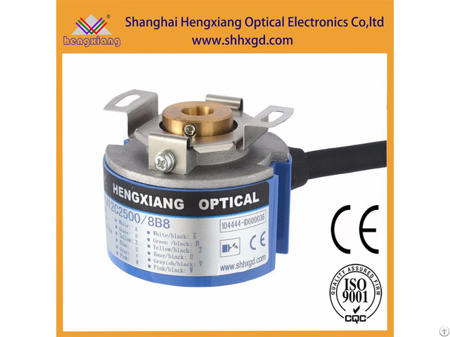 Hengxiang Kz48 Hollow Tapered Shaft Encoder With Diameter 48mm Thickness 34mm Abzuvw
