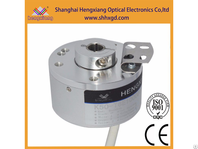 Hengxiang K50 Hollow Encoder Diameter 50mm Blind Shaft 14mm Npn Output