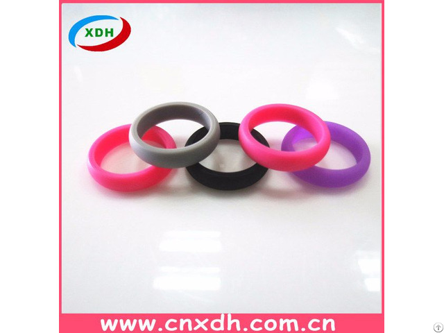 Custom Fashionable Silicone Wedding Ring