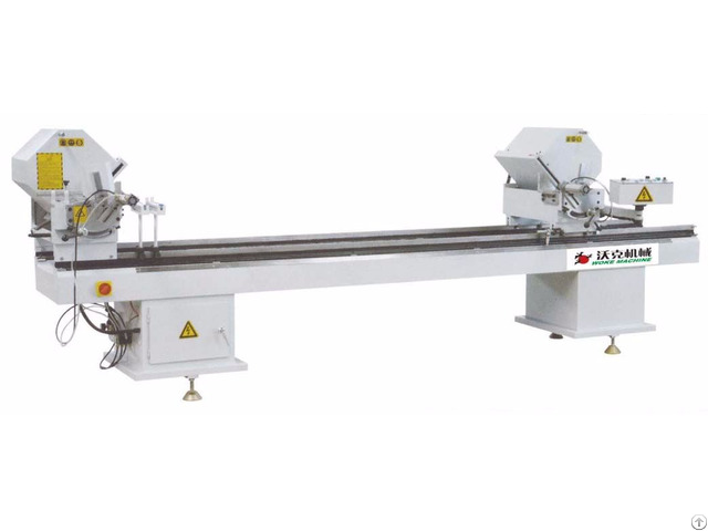 Double Head Cutting Saw Machine For Aluminum Pvc Profile