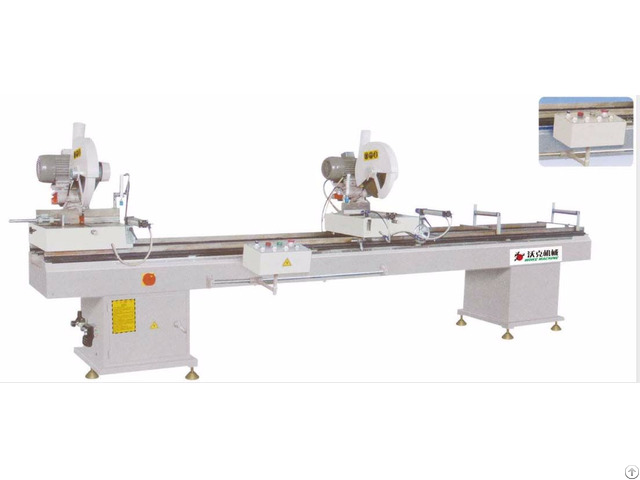 Double Head Cutting Saw Machine Aluminum Pvc