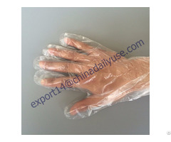 China Supply Disposable Poly Glove For Cleaning Gardening Medical Salon Use