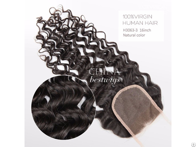 Swiss Lace Closure 130% Density