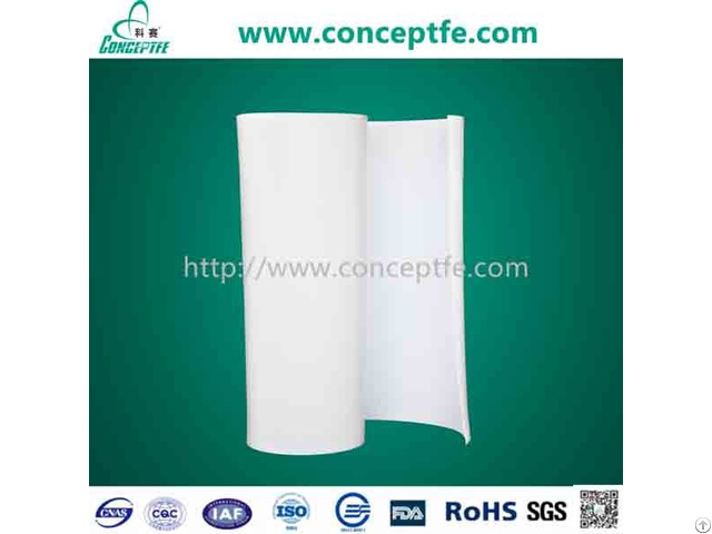 Virgin Ptfe Teflon Skived Rolled Sheet Skiving Plate In Rolls High Temperature Resistant