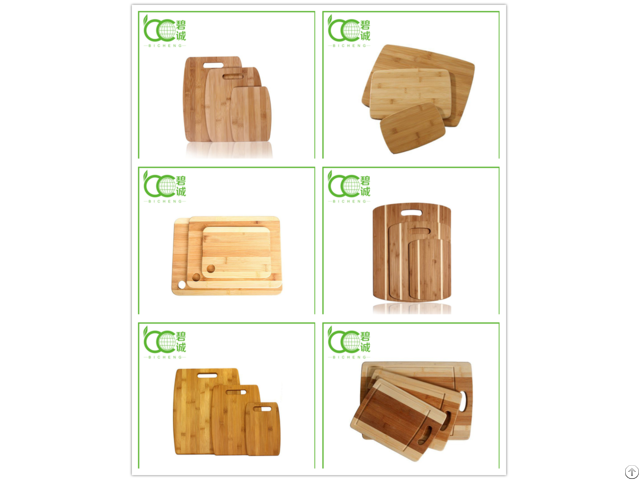 Bamboo 3 Pieces Cutting Boards Set